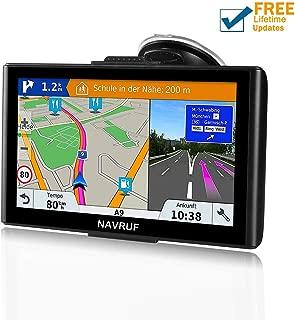 Car GPS, 7inch 8GB&256MB GPS Navigation System,Spoken Turn- to-Turn Traffic Alert Vehicle Car GPS Navigator,Lifetime Free Map Updates