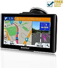GPS Navigation for Car, NAVRUF 7 inch 8GB&256MB GPS Navigation System,Spoken Turn- to-Turn Traffic Alert Vehicle Car GPS Navigator,Lifetime Free Map Updates