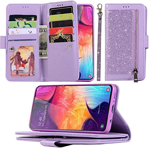 Samsung Galaxy A70 Flip Case Cover for Leather Luxury Business Wallet Cover Kickstand Card Holders Flip Cover