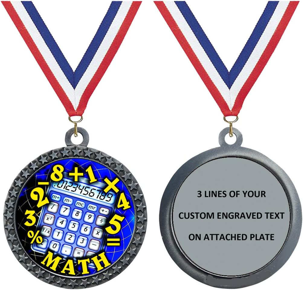 Express Medals Brand new Engraved Super special price 1 to Math Packs Medal 50 Silver