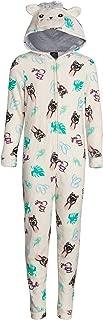 dELiAs Girls Coral Fleece Onesie Pajamas with Character Hood