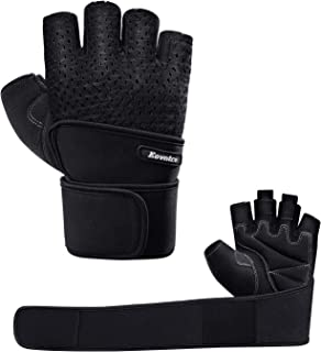 Eovntco Workout Gloves Men Women Half Finger Weight...