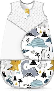 Sleep Sack for Baby, Adjustable Cotton Swaddle Wearable Blanket, Winter Transition Sleeping Bag for Newborn Baby Girls Boy...