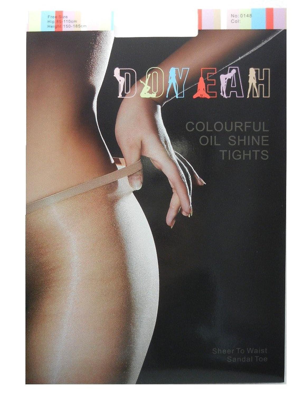 DOYEAH ドゥヤー 0148 光沢グロス カラフル ローライズ シアー オールスルー パンスト 9Color