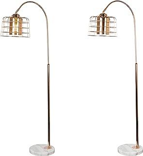 Urban Shop Rose Gold Overheard Floor Metallic Lamp