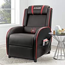 Homall Gaming Recliner Chair Single Living Room Sofa Recliner PU Leather Recliner Seat..