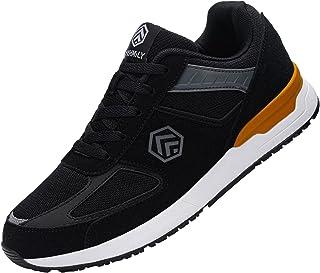 Fenlern Chaussure de Securite Homme SRC Léger Baskets de Sécurité Embout Acier Chaussures de Travail