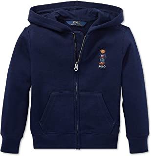 Boys Fleece Hoodie Sweatshirt Bear Navy