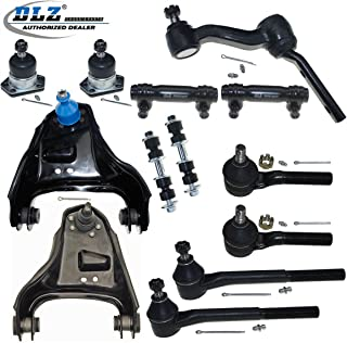 DLZ 13 Pcs Front Suspension Kit-Upper Control Arm Upper Ball Joint Inner Outer Tie Rod End Adjusting Sleeve Sway Bar Idler Arm Compatible with 1999-2001 Chevrolet Blazer 1998-2002 GMC Jimmy K620173