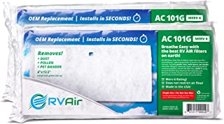 RV Air RV AC Filter | AC 101G Air Filters for RV Air Conditioner | Made in USA RV Filter to Replace Standard RV Air Conditioner Filters for Better Airflow and Cleaner Air | MERV 6 Rated - 2 Filters