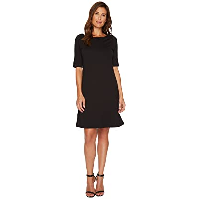 Tommy Bahama Drapey Ponte Short Dress (Black) Women