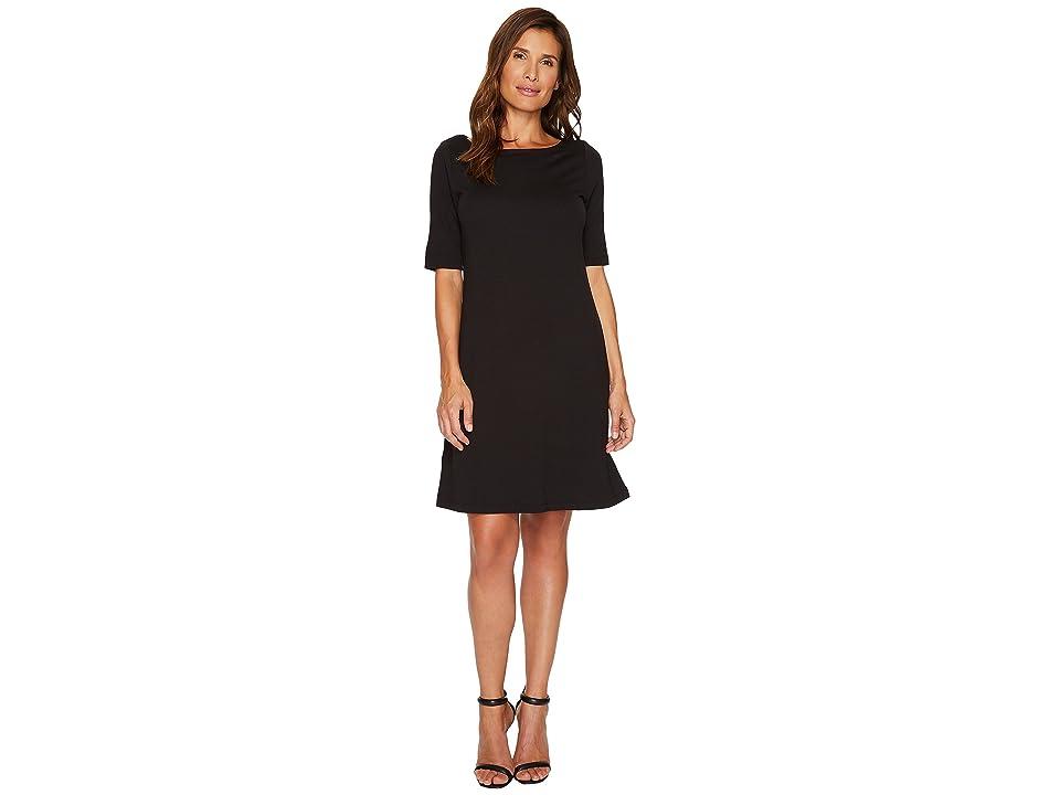 Tommy Bahama Drapey Ponte Short Dress (Black) Women