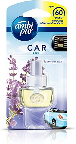 Ambi Pur 82209457 Lavender Spa Car Air Freshener Refill (7. 5 ml)