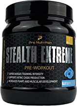 Pro Nutrition Stealth Extreme Pre-Workout 32 Servings SUPERCHARGES Training Intensity aE Increased Pumps and Muscular Development for Women Men Blue Raspberry Crush Estimated Price : £ 24,98