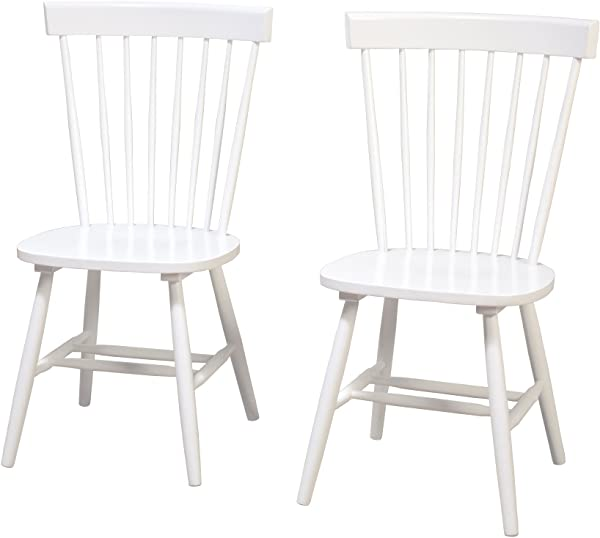 Target Marketing Systems 64918WHT PR Venice Set Of 2 Dining Chairs White