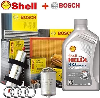 Kit Tagliando aceite Shell Helix HX85W405lt + 4Filtros Bosch (1457429192o f026407023, f026402068, f026400157, 1987432369)