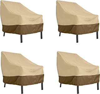 Classic Accessories Veranda Patio Lounge Chair Cover, Large (4-Pack)