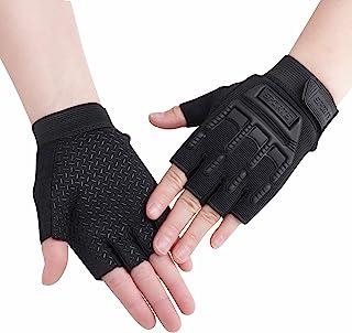 Kids Half Finger Cycling Gloves Mittens Breathable Non Slip Fingerless Bike Riding Gloves Shockproof Sports Training Glove...