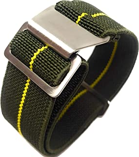Max French Marine Nationale Elastic Nylon Navy Divers Parachute Watch Straps 20mm 22mm Military Bands
