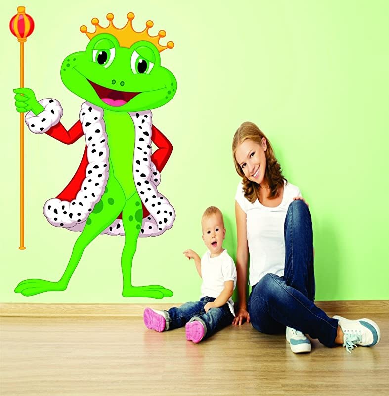 Wall Decal Sale Prince King Frog Kids School Daycare Playroom Preschool Mural Size 20 Inches X 30 Inches