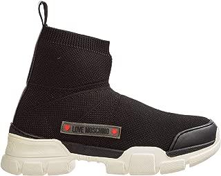 Women high-top Sneakers Nero