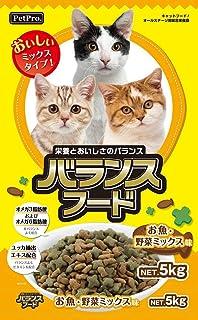 (まとめ買い)ペットプロ バランスフードお魚・野菜ミックス味 5kg 猫用 【×3】