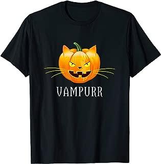 Vampire Pumpkin Cat Vampurr Funny Halloween Kitty T-Shirt