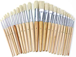 Colorations Easel Paint Brushes Assortment Value Pack Classroom Size Art Supplies for Painting - 24 Pack (Item # FULLSET)
