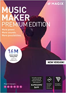 MAGIX Music Maker - 2019 Premium Edition - Our Most Popular Music Making Program! More power. More loops. More creative possibilities. [Download]