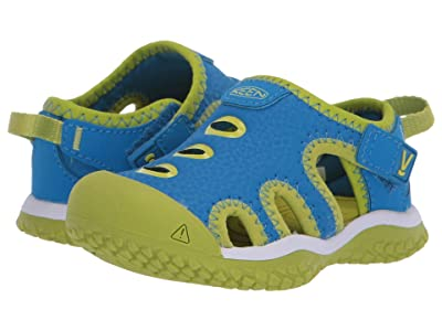 KEEN Kids Stingray (Toddler) (Brilliant Blue/Chartreuse) Kid