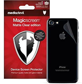 MediaDevil iPhone 8 and iPhone 7 Back (Rear) Screen Protector, Matte Clear [2 x Back Protectors]