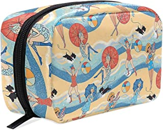 Cosmetic Bag Portable and Suitable for Travel Bathing Beauties Roaring Twenties Swimwear With Scotty Dogs Make Up bag with Zipper Pencil Bag Pouch Wallet
