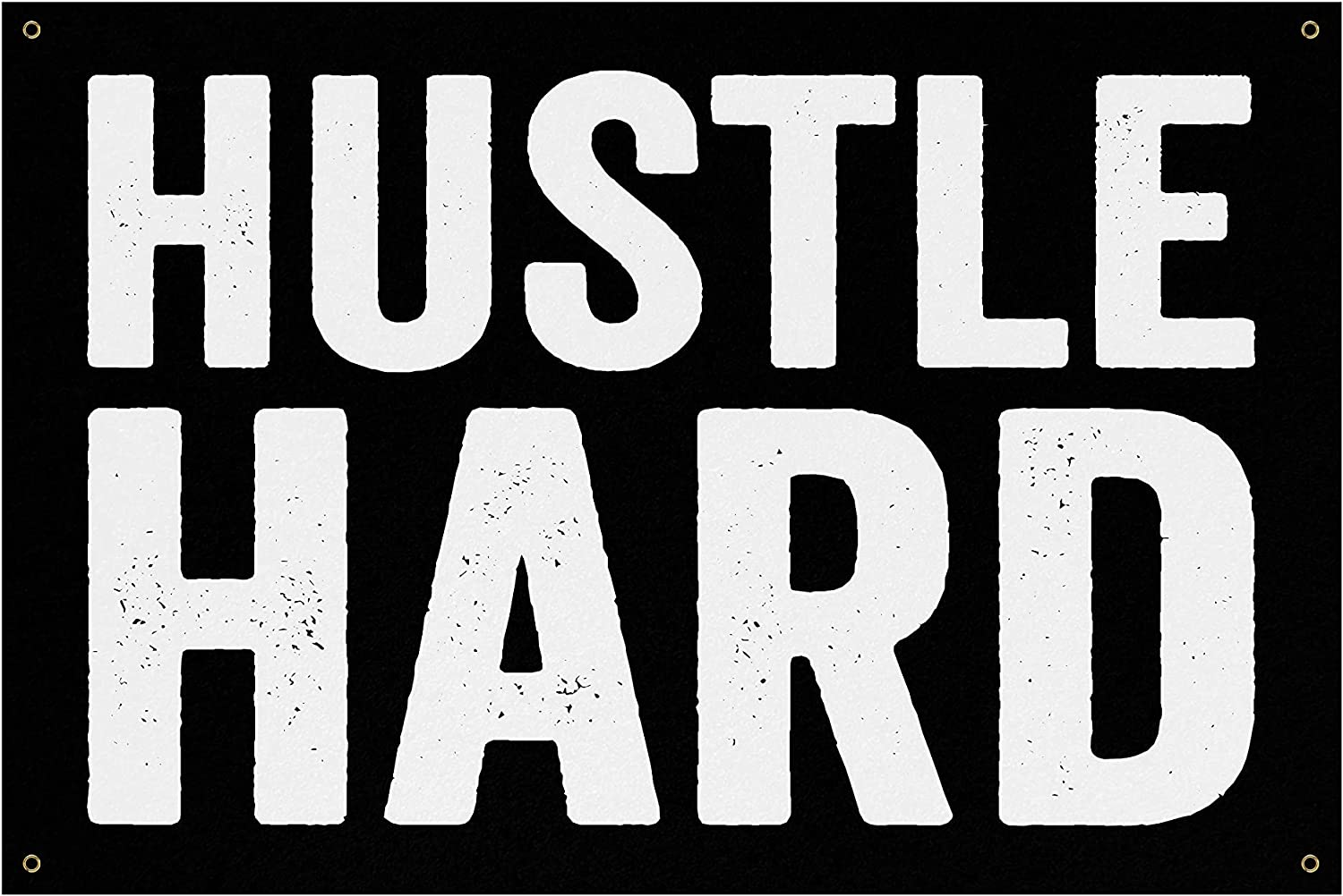 Hustle Hard Now on sale Banner - Home Gym Art Wall Large Outlet sale feature Ga Quotes Decor