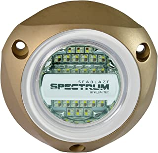 Lumitec 101320 SeaBlazeX Spectrum LED Underwater Boat Light, Surface Mount, Dimmable, RGBW Full-Color Output