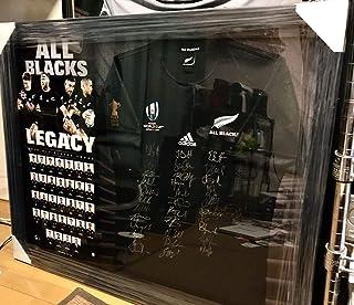 RWC2019世界限定300枚/2019ラグビーワールドカップジャパン/オールブラックスメンバー32名直筆サインジャージ 本場高級額装。ALL BLACKS QC7