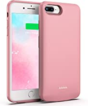 Swaller Battery Case for iPhone 8 Plus/7 Plus, 5500mAh Slim Portable Charger Case Extend 150% Battery Life, Protective Backup Charging Case Compatible with iPhone 8 Plus/7 Plus (Rose Gold)