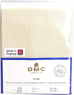DMC パンチニードル ファブリック アイーダ6カウント 幅350mm×高さ450mm DMCDC29SO/1