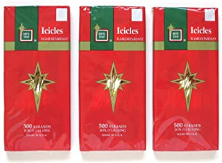 Brite Star Icicle Tinsel and Garland for Christmas Tree and Holiday Decorating (Gold Icicles)