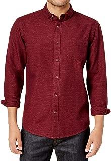 American Rag Mens Long Sleeve Solid Button-Down Shirt