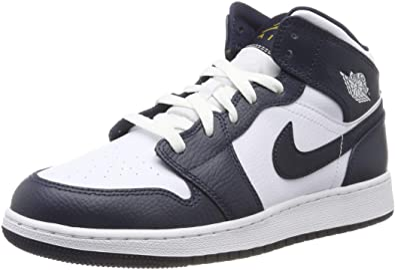 Nike Air Jordan 1 Mid (GS), Chaussures de Basketball Homme ...