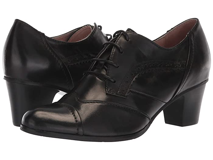 Vintage 1920s Shoe Styles Spring Step Rorie Black High Heels $134.99 AT vintagedancer.com