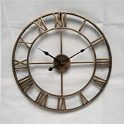 HYLRUS Simple personality Creative fashion living room modern Iron wall clock