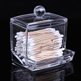 Sungpunet Clear Acrylic Cotton Swabs Cotton Ball Cosmetics Holder Box Organizer