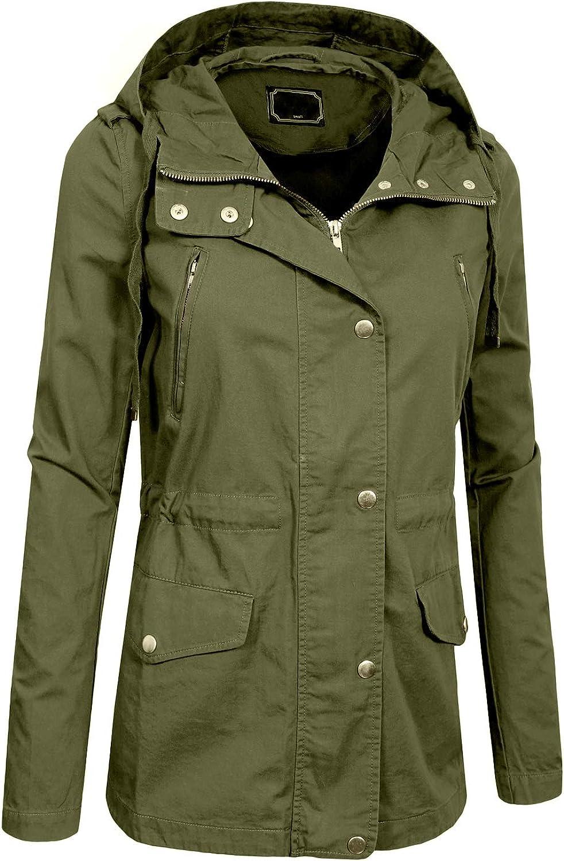 NE PEOPLE Womens Multi-Poket Military Jacket in Various Styles S-3XL