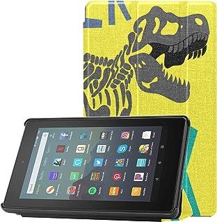 Etui ochronne do zupełnie nowego Kindle szkielet dinozaurów Fire 7 etui pokrowiec na tablet Fire 7 (9. generacji, modele z...