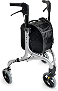 Weinberger Aluminium rollator / 3 wielen/met tas / 4,2 kg/kleur zilver, zwart/model: 02217