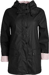 Urban Republic Women's Lightweight Vinyl Hooded Raincoat Jacket