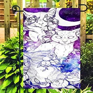 Illians Vertical Polyester Garden Flag 28 X 40 Inch Double Sided Pattern Design Outdoor Decorative Garden Flag for Christmas Halloween #ER4