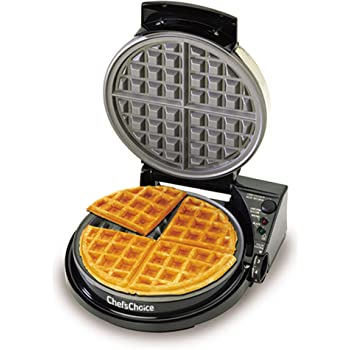 Chef'sChoice WafflePro Taste and Texture Select Nonstick Classic Belgian Waffle Maker with Unique Quad Baking System Easy to Clean, 4-Slice, DAA