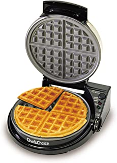 Chef`sChoice WafflePro Taste and Texture Select Nonstick Classic Belgian Waffle Maker with Unique Quad Baking System Easy to Clean, 4-Slice, DAA